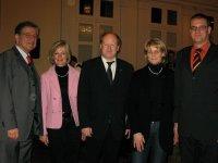 Dr. Thomas Goppel (1.v.li.) mit örtlichen CDU-Vertretern im Bad Bentheimer Kurhaus